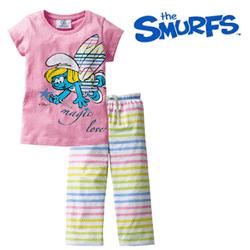 Pijama The Smurfs pentru fetite