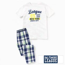 Pijama de vara Baltimore League pentru baieti