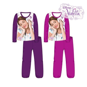 Pijamale pentru copii (fetite) Disney Violetta din bumbac