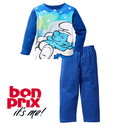 Pijama Strumfii pentru baieti