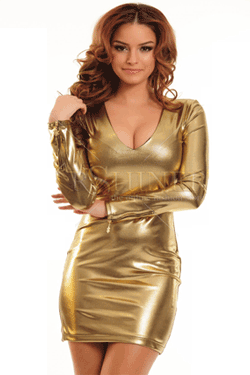Rochie club PrettyGirl Shade Wear Gold