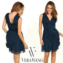 Rochie Vera Wang Lavender Chiffon Dress