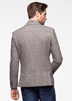 Sacou barbatesc tip Tweed Slim Fit