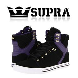 Skate Shoes Supra Skytop Violet Black pentru baieti