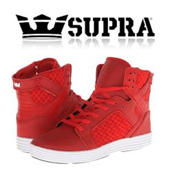 Skate Shoes portocalii Supra SkyTop Light pentru barbati