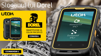 Smartphone-ul rezistent la apa, soc si praf IP67 UTOK Dorel
