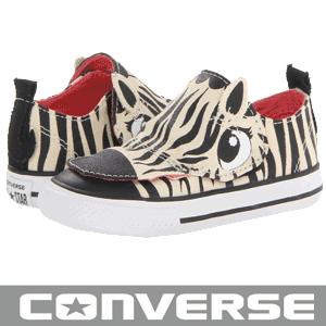 Converse Kids Chuck Taylor No Problem OX personalizati cu animale - zebra