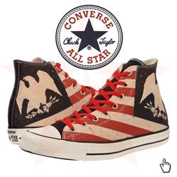 Bascheti Converse Steagul Statelor Unite ale Americii