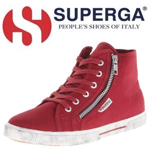 Bascheti Fashion de dama Superga - culoare rosie - comenzi online amazon
