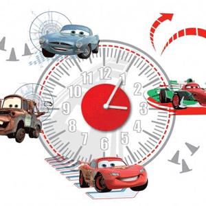 Ceasuri de perete pentru camera copiilor sub forma de autocolante