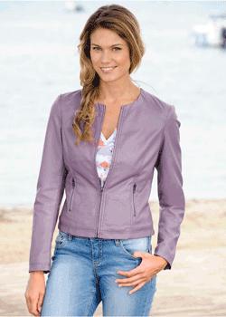 Jacheta din imitatie piele de dama