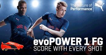 Ghetele de fotbal Puma EvoPower pentru CM Brazilia 2014
