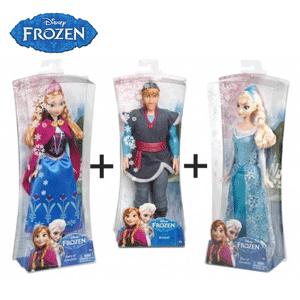 Papusi caractere desene animate Disney Frozen Anna Elsa si Kristoff