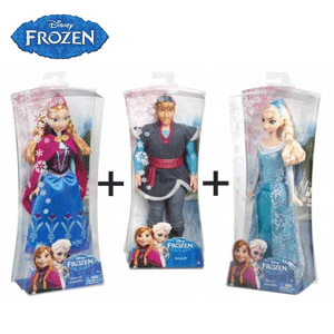 Jucarii, figurine si papusi Frozen: Elsa, Anna, Kristoff si omul de zapada Olaf