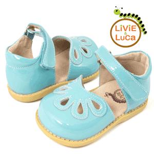 Sandale fetite culoare bleu - piele naturala