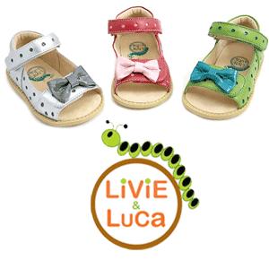 Sandale din piele pentru fetite Livie and Luca