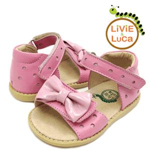 Sandale din piele pentru fetite 2-6 ani Livie and Luca