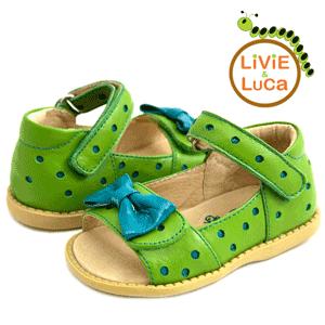 Sandale din piele Livie and Luca Minnie Lime fetite 2-6 ani