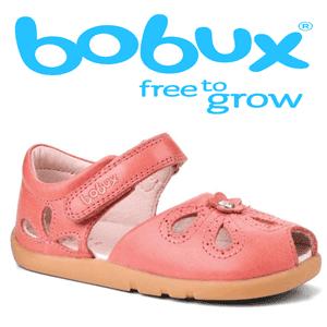 Sandale din piele Bobux pentru fetite Princess corai