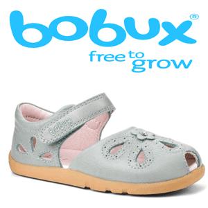 Sandale din piele pentru fetite Bobux Gri
