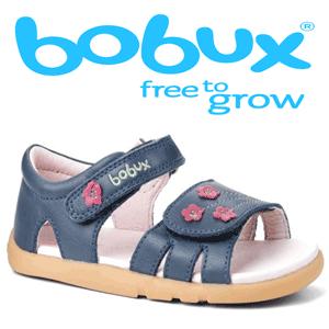 Sandale din piele pentru fetite Bobux I Walk