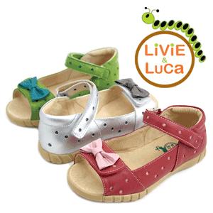 Sandalute din piele pentru fetite cu fundita Minnie de la Livie and Luca