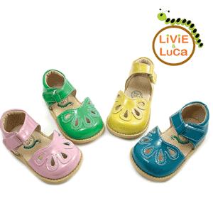 Sandale verzi Petal Livie and Luca pentru fetite din piele naturala calitate superioara