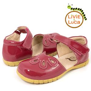 Sandalute din piele pentru fetite Petal Magenta la eMAG