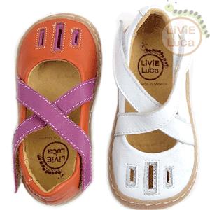 Sandale fetite piele naturala Luz - alb