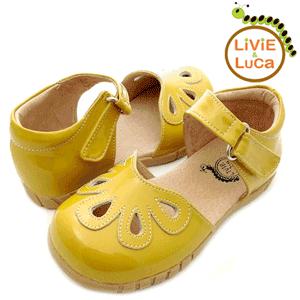 Sandalute din piele culoare galbena Petal Livie and Luca