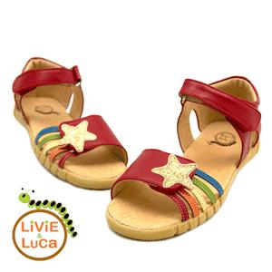 Sandale din piele cu steluta Livie and Luca