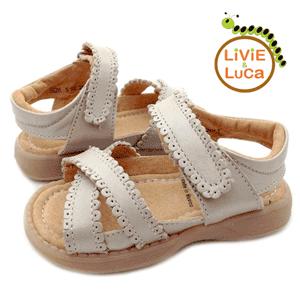 Sandalute din piele pentru fetite Ivy la emag