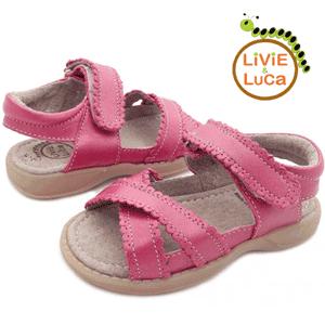 Sandalute din piele pentru fetite Ivy Roz