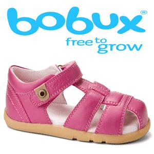 Sandale din piele pentru copii culoare fucsia Bobux