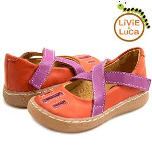 Sandalute piele portocalii Livie and Luca Luz pentru fetite