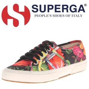 Superga Women's Flowery Fashion Sneaker - Tenisi colorati pentru femei