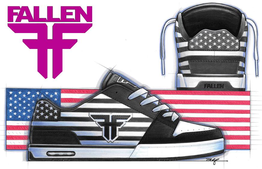 Adidasi si Tenisi Fallen Skate Shoes de dama si barbatesti