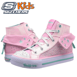 Bascheti fete Skechers Rock Beauty Lights