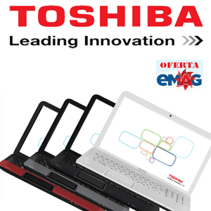 Vezi preturile reduse la laptopurile Toshiba la magazinul online emag
