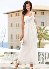 Rochie de ocazie eleganta maxi one shoulder culoare alba