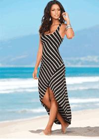 Rochie de plaja asimetrica rochii de zi lungi