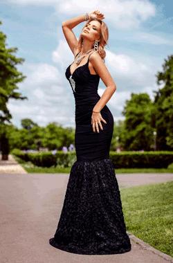 Rochie eleganta Black Sirene din tul