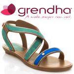 Sandale dama Grendha Amour culoare verde