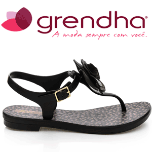 Sandale dama Grendha Acai Beija Flor negre
