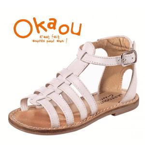 Sandale romane roz pentru fete si fetite Okaou