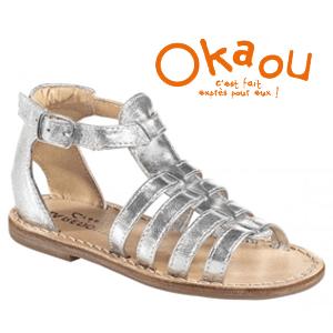 Sandale romane argintii pentru fete si fetite la eMAG