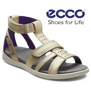 Sandale romane din piele ECCO Shoes pentru fete si fetite