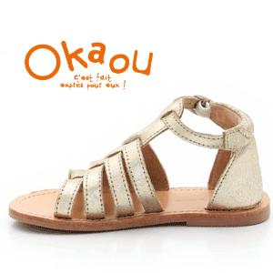 Sandale romane din piele pentru fete si fetite Okaou