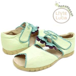 Sandalute fetite 2-6 ani culoare menta din piele naturala Livie and Luca
