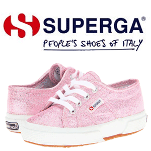 Tenisi fetite Superga Kids 2750 LAMEJ de culoare roz